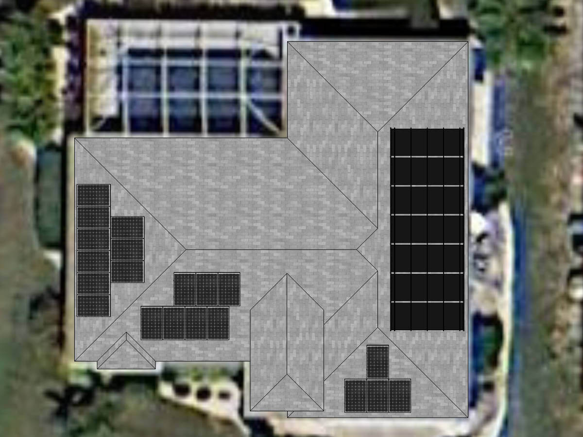 Solar Pool Heating and Solar Photovoltaic Panels on Cape Coral, FL Home