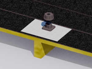 A metal flashing for roof penetrations protects the roof and your home.