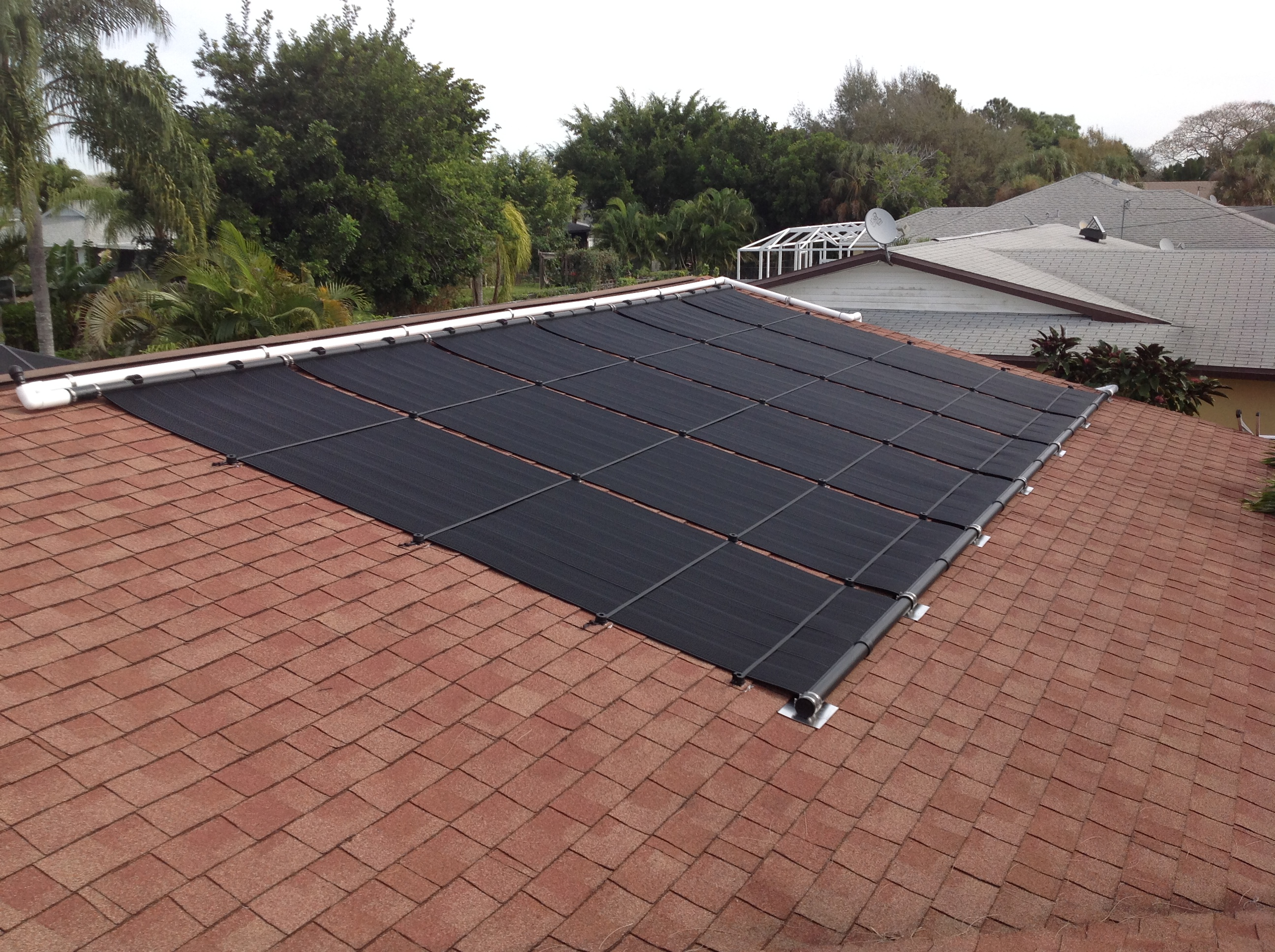 Cape coral solar pool heater for Swimming pool heating system design