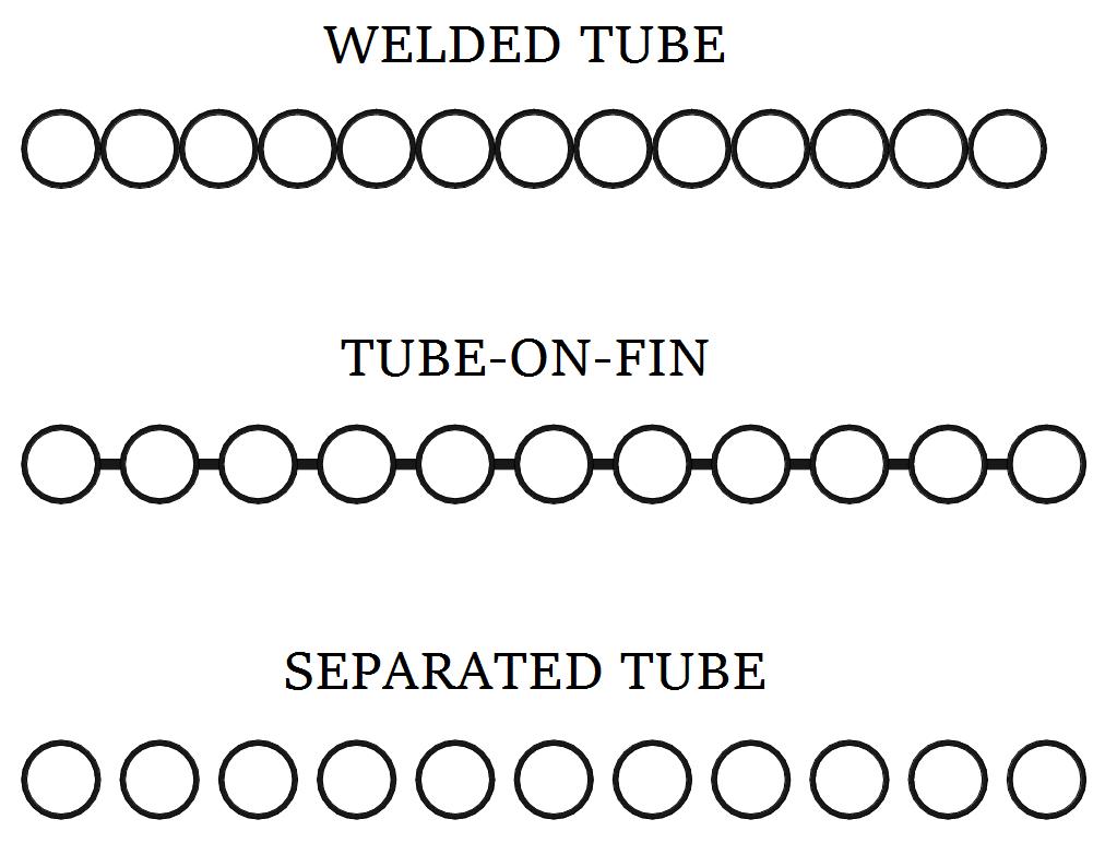 Solar Pool Heating Panel Cross Sections