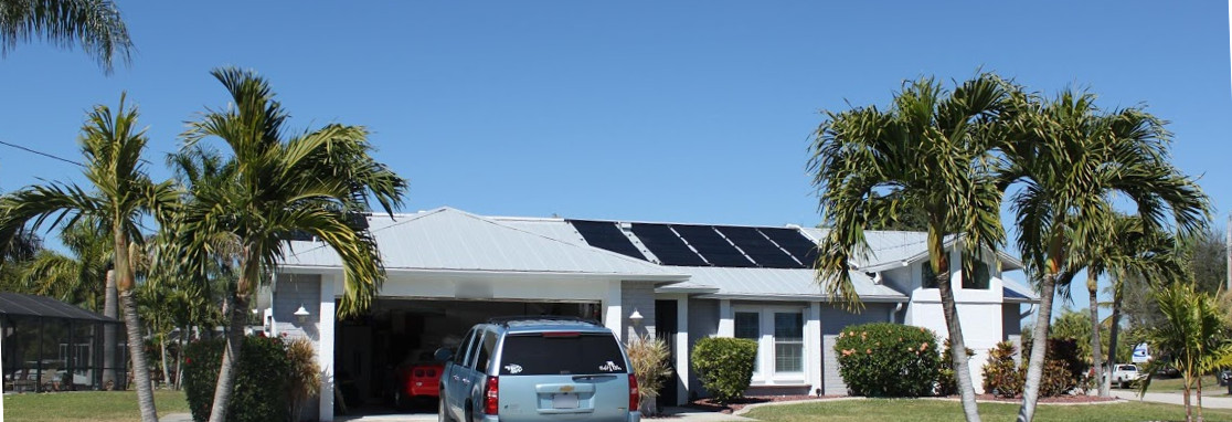 Solar Panels Front Of House