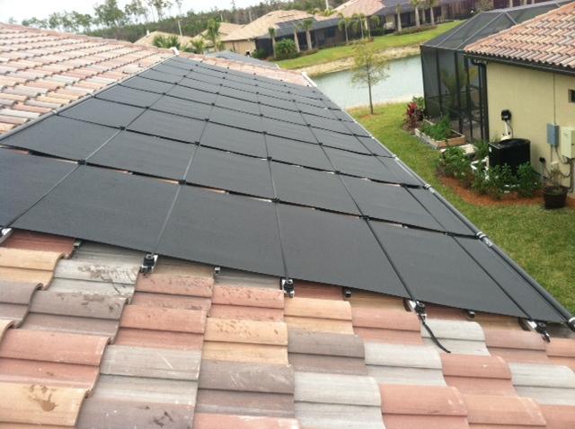Solar Pool Heater on Tile Roof in Estero, FL