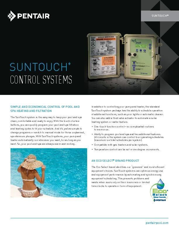 Pentair SunTouch Brochure