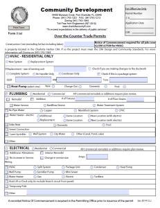 Florida Solar Panel Permit Application