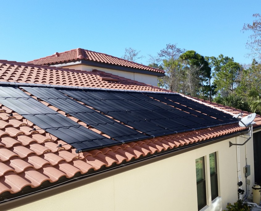 Solar Pool Heating on a Tile Roof in Naples, FL