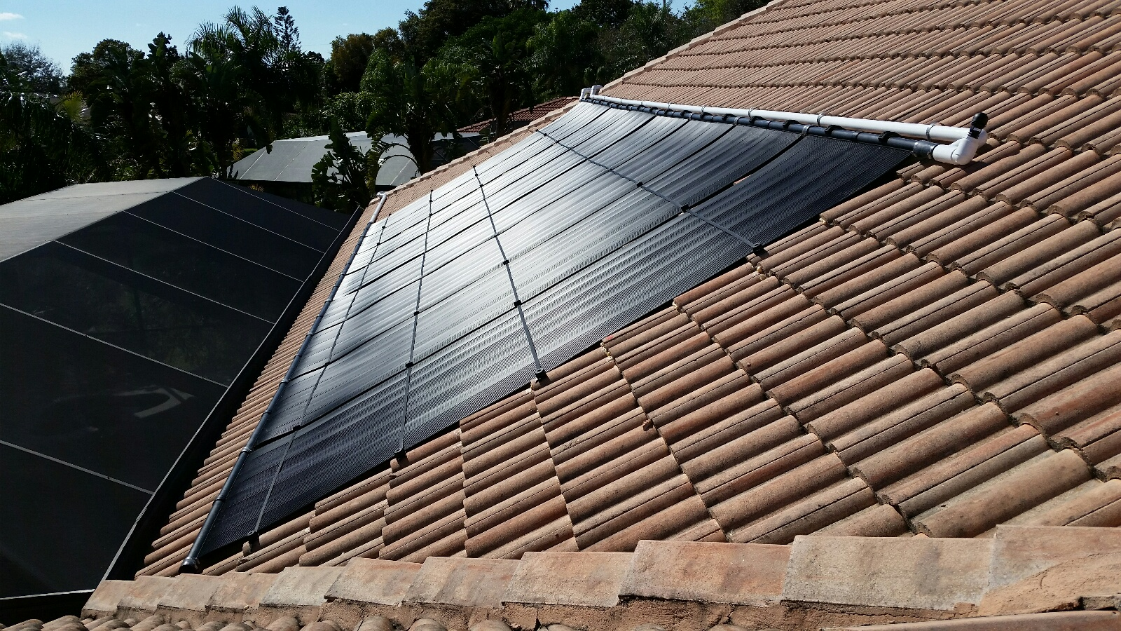 Cape Coral Solar Pool Heater Installation On A Tile Roof