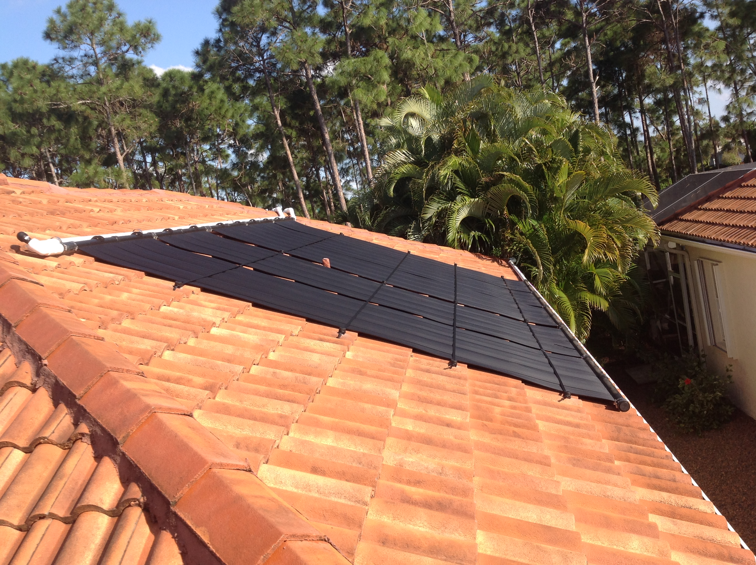 Roof Mounted Solar Pool Heater In Cape Coral Fl
