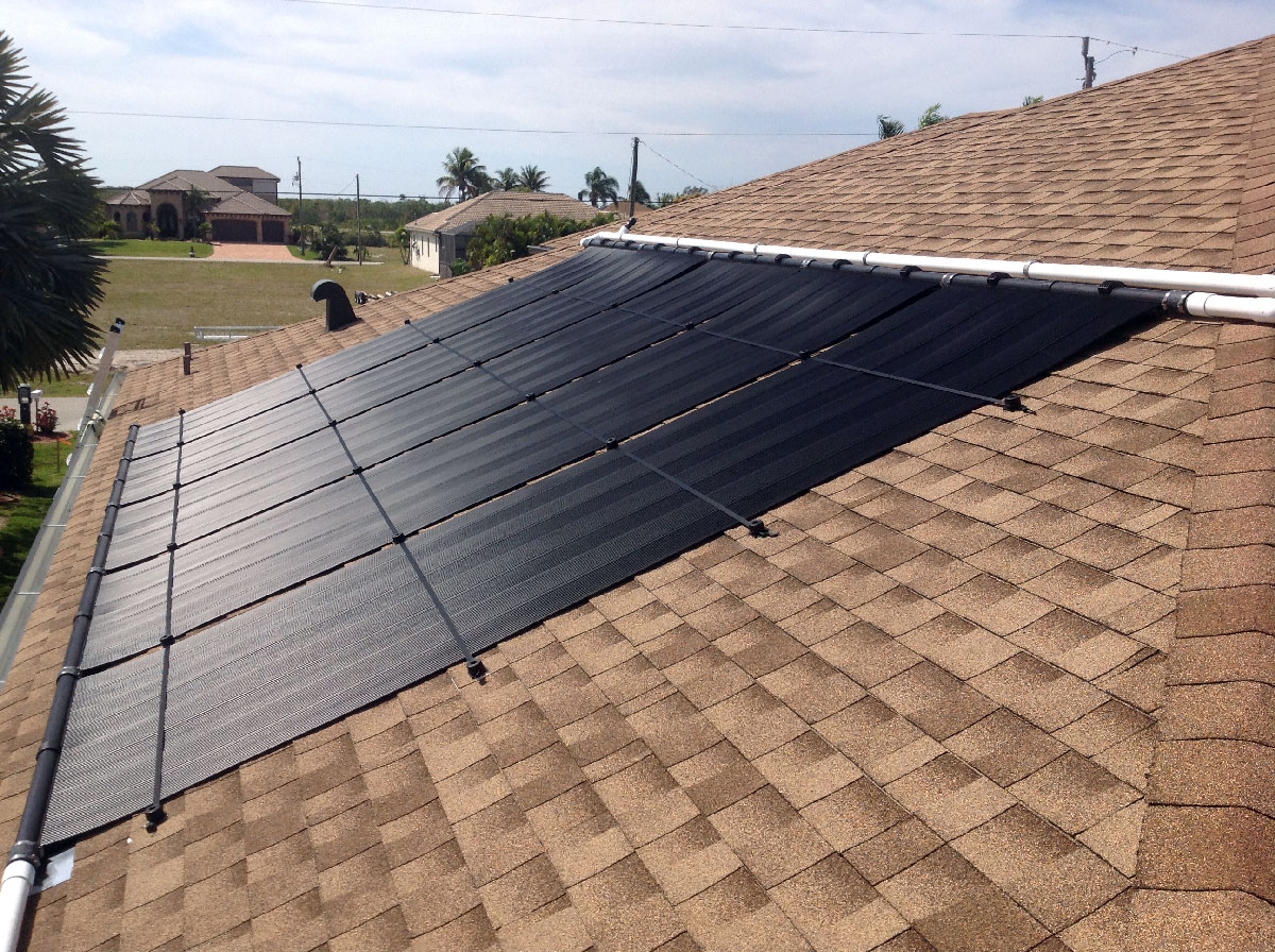 Cape Coral-Two Roof Solar Pool Heater