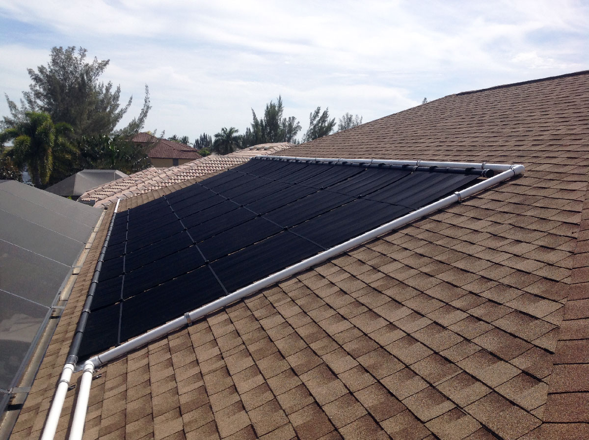 Cape Coral Multi-Roof Solar Pool Heating System