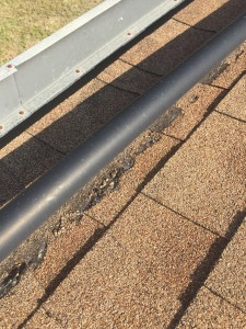 Solar Pool Heater Plumbing Wearing Away Shingles